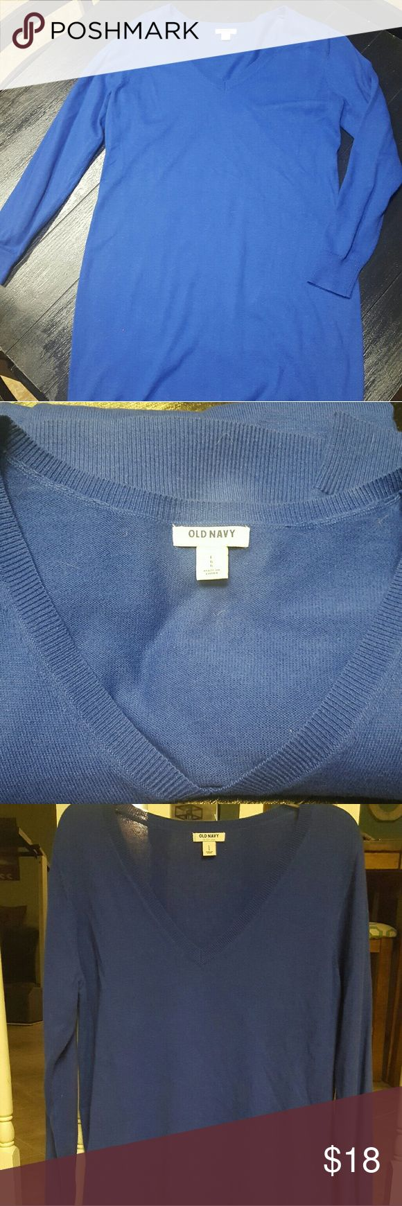 Old Navy Sweater Dress in Cobalt Blue Casual and comfortable, in perfect condition Old Navy Dresses Midi