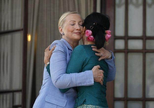 love and thanks. | A Photo Of Hillary Clinton In Every Country She'sVisited