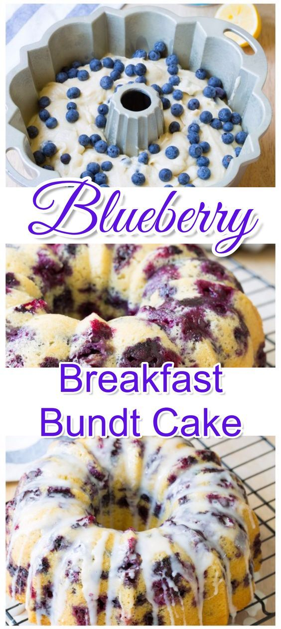 This easy blueberry breakfast bundt cake recipe tastes just like homemade blueberry muffins.  Simple and easy breakfast idea for a crowd, Christmas morning or for brunch. (Bake Ideas Breakfast)