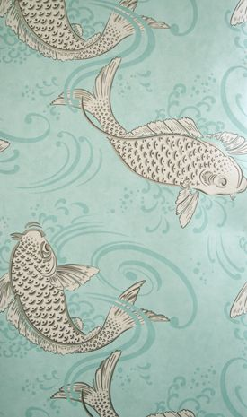 Osborne & Little - Derwent - great for a powder room or pool room (see also -05 in blue)
