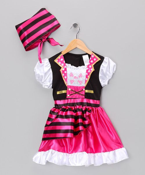 Take a look at the Pink Pirate Dress & Scarf - Toddler & Girls on #zulily today!