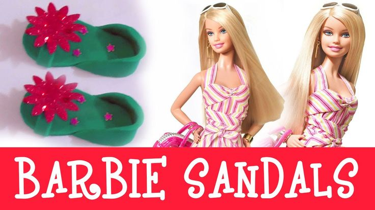 Play Dow Clay Modeling of a Barbie Girls Fashion Sandals    Barbie Surpr...