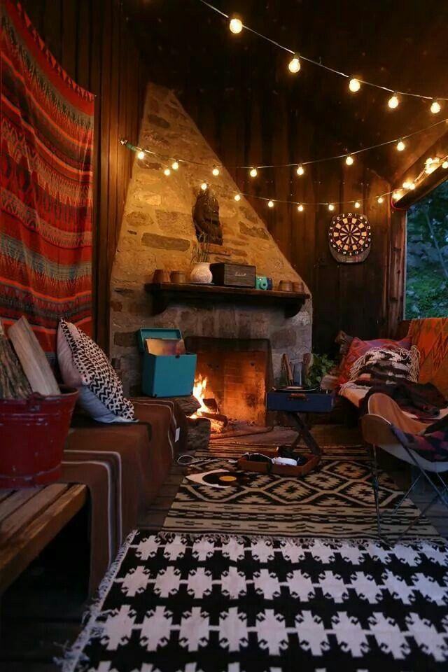 -Floor plan idea -Fire place