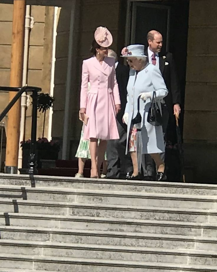 The Duke And Duchess Of Cambridge Join The Queen Today