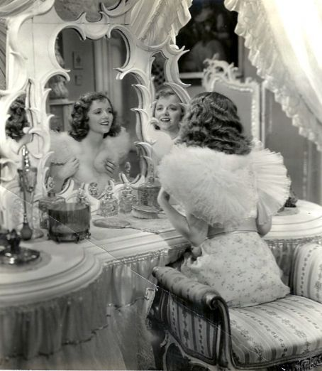 Create a space of your very own to pamper yourself and get ready in your home. A beautiful dressing table brings back that old Hollywood glamor and is the foundation of a Seductive Boudoir™- (Janet Gaynor's dressing table)
