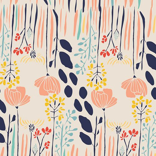 Summer Grove By Day - Meadow - A cotton fabric collection inspired by summer days with warm colours that are fresh and bold.