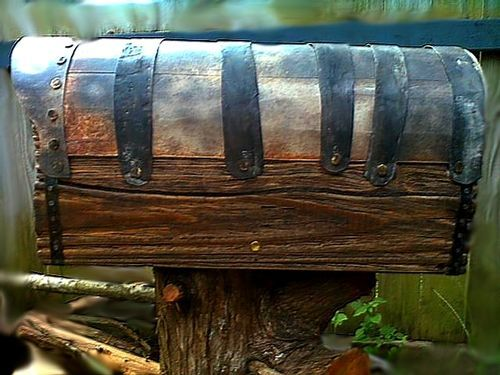 AGING OF SURFACE #6: Country Style Rustic Mailbox With Metal ...