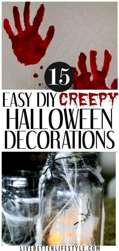 15 Easy DIY Creepy Halloween Decorations Crafts  DIY~ Home Decor - creepy halloween decorations homemade