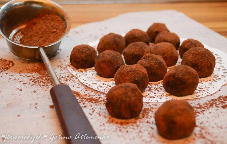 домашние трюфели из шоколадного ганаша