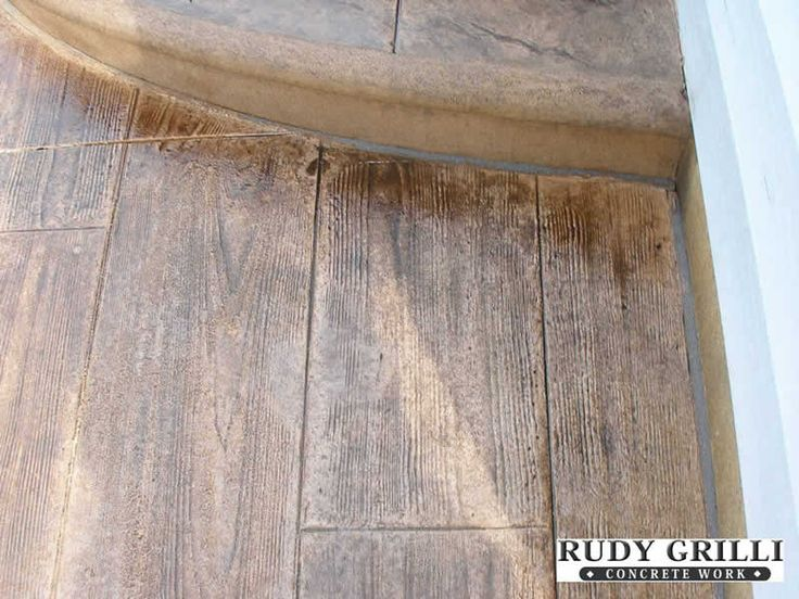Wood look stamped/stained concrete