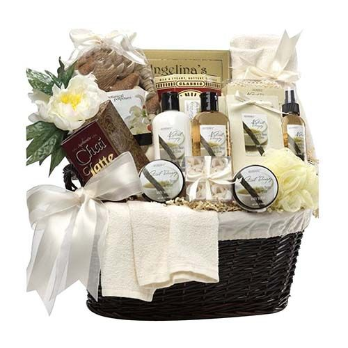 7 best diy wedding gift baskets images on pinterest bridal gift art of appreciation gift baskets essence of luxury spa bath and body set get it solutioingenieria Gallery