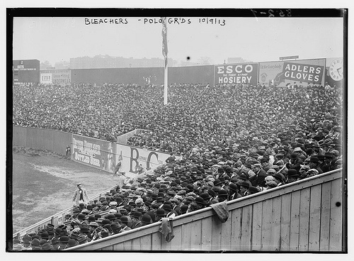 Bleacher shot of the Polo Grounds during the first World Series