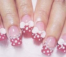 art, bows, diamonds, minnie mouse, nail art