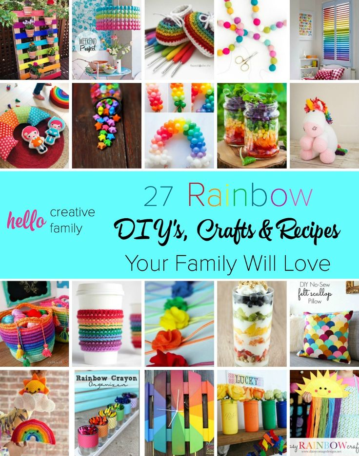 Rainbows always put a big smile on my face and make me happy. This is a great collection of beautiful rainbow crafts, diy projects and recipes that the whole family will love. Sure to inspire some creativity in your home! I love number 3!