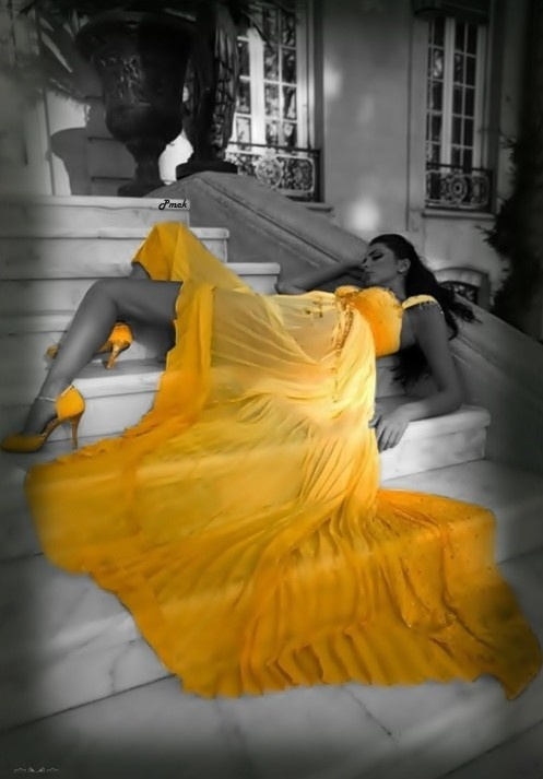 yellow gown...amazing