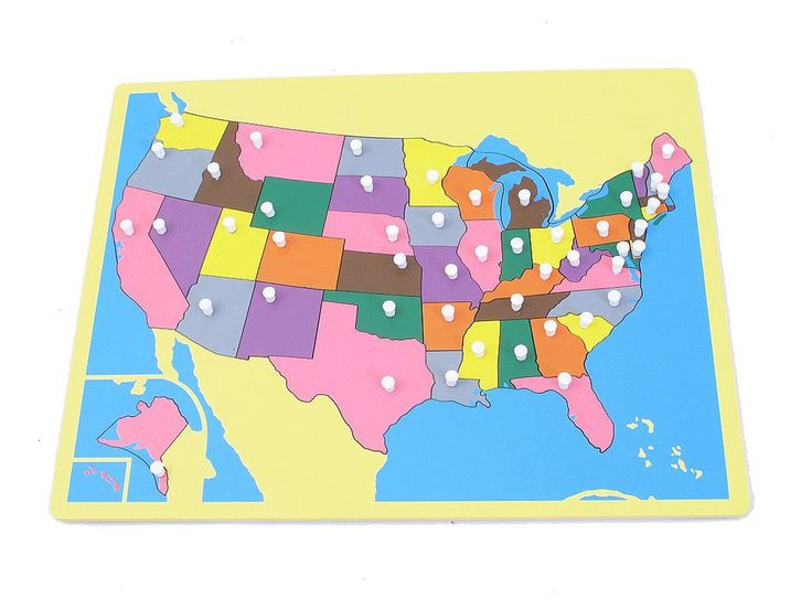 Small Board Map of USA