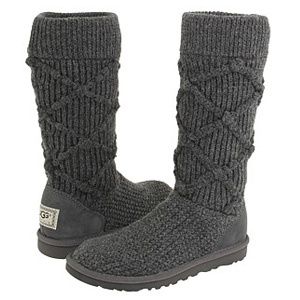 Ugg Classic Argyle Knit Tall Boots Gray