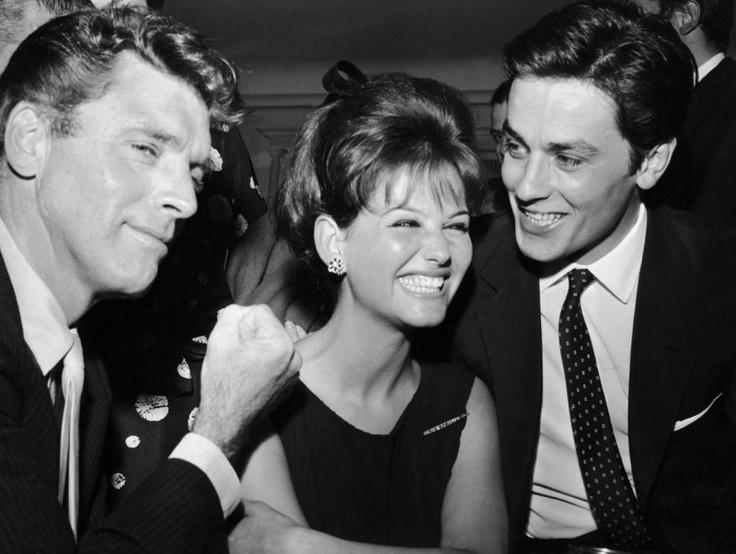 """Lancaster, Cardinale & Delon during """"Il gattopardo"""""""