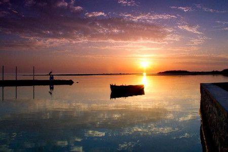 Isola Lo Scoglio Hotel, tramonto nel mare, Porto Cesareo LE