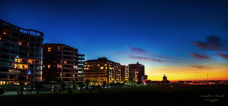 Sea Point, Cape Town, Blue Hour by Jfunk