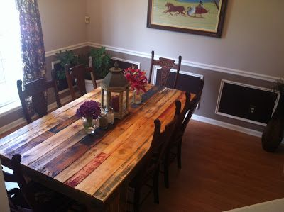 The Best is Yet to Come: We Built a Table (From Old Wooden Pallets) do with plywood planks love the look