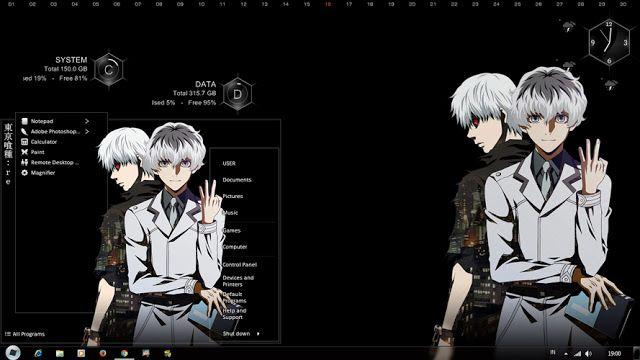 Theme Anime Windows 7 Tokyo Ghoul Re Anime Tokyo Ghoul Anime Theme Anime wallpaper themes for windows 7