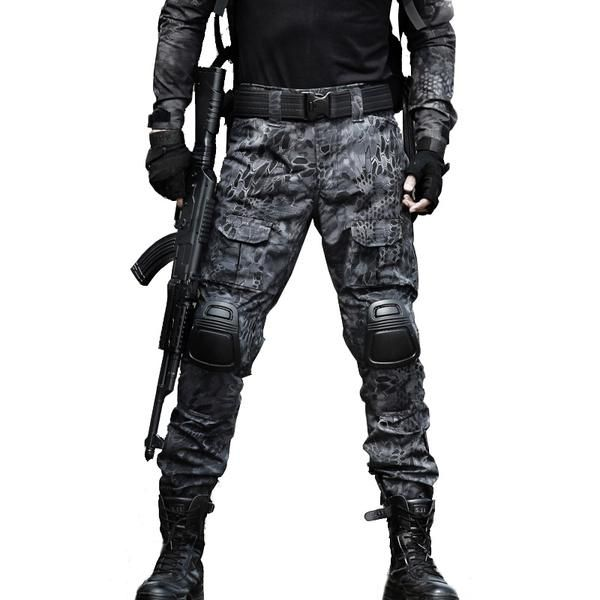 137a3994ae1de Tactical Pants Military Men Camouflage Cargo Pant Knee Pad SWAT Army  Airsoft Clothes Hunter Field Work Combat Trouser 9 COLORS