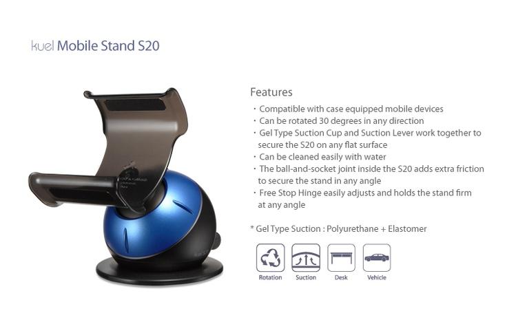 Suport telefon SGP Kuel S20 - Metalic Blue