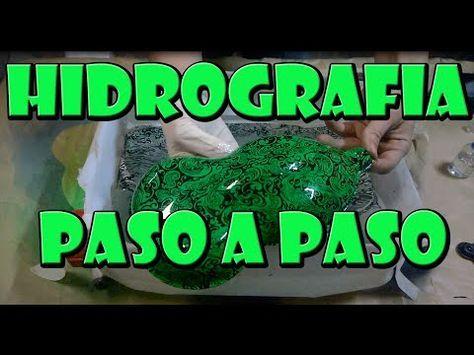 Como Hacer Hidrografia Casera WATER TRANSFER PRINTING pintar tirador d VW GOLF IV HYDROGRAPHICS FILM - YouTube