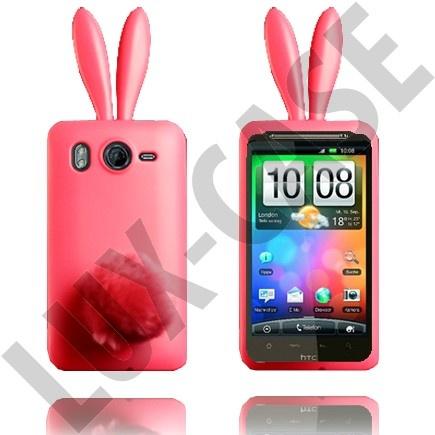 HTC Desire HD vaaleanpunaiset pupu suojakuoret!