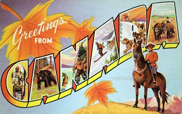 Vintage postcard - Canada