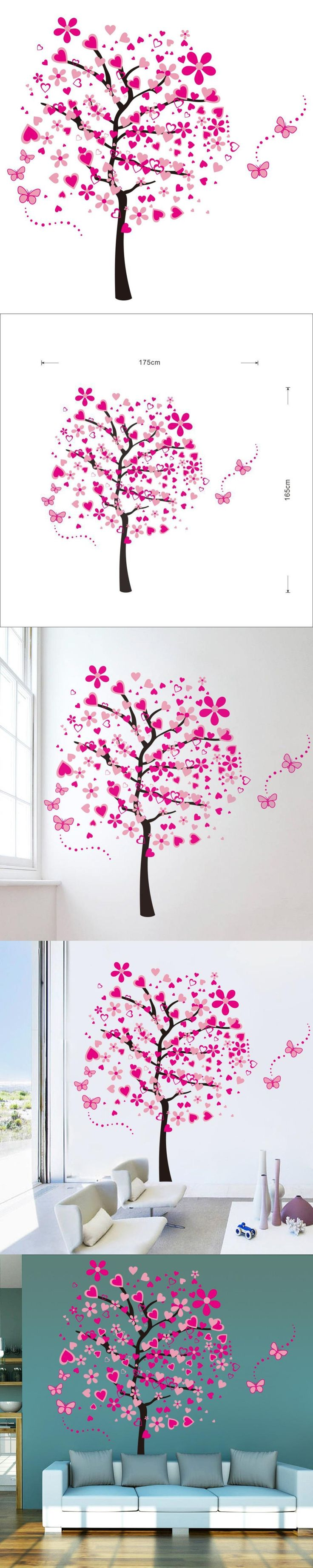 The 25+ best Pink wall stickers ideas on Pinterest | Girls wall ...