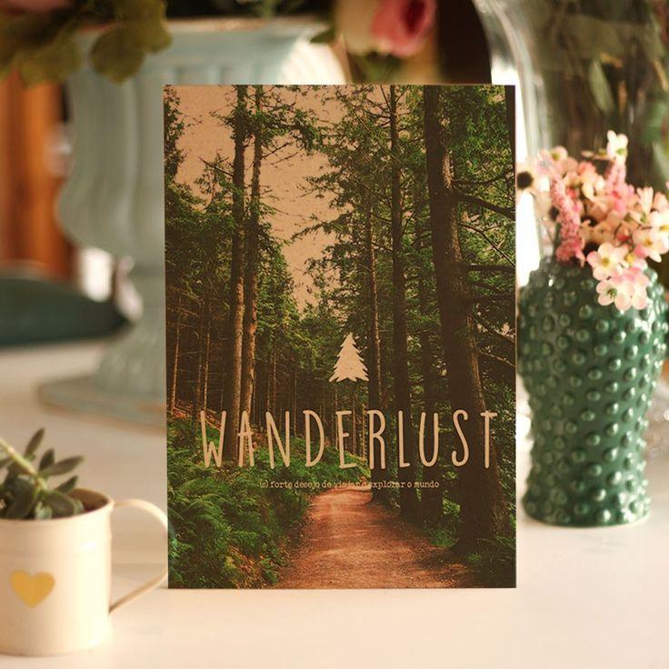 Wanderlust 2 – Quadro de madeira – Quadros e Flâmulas