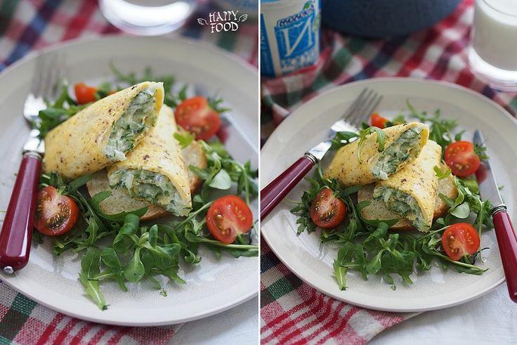 Омлет-рулет с огуречным салатом с йогуртом: my_happyfood