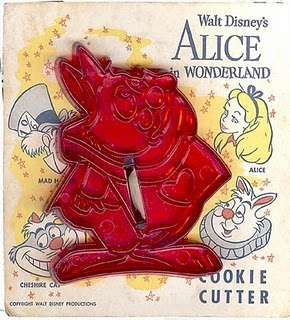Walt Disney's White Rabbit cookie cutter; Domar Plastic Company, Oklahoma City, OK (no longer in business); very hard to find.