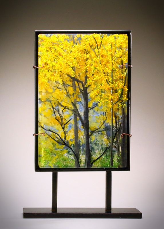 151 best Fused Glass - Landscapes images on Pinterest | Stained ...