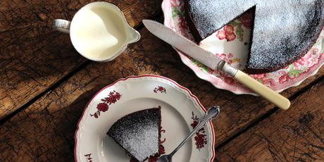 raspberry and coconut chocolate torte