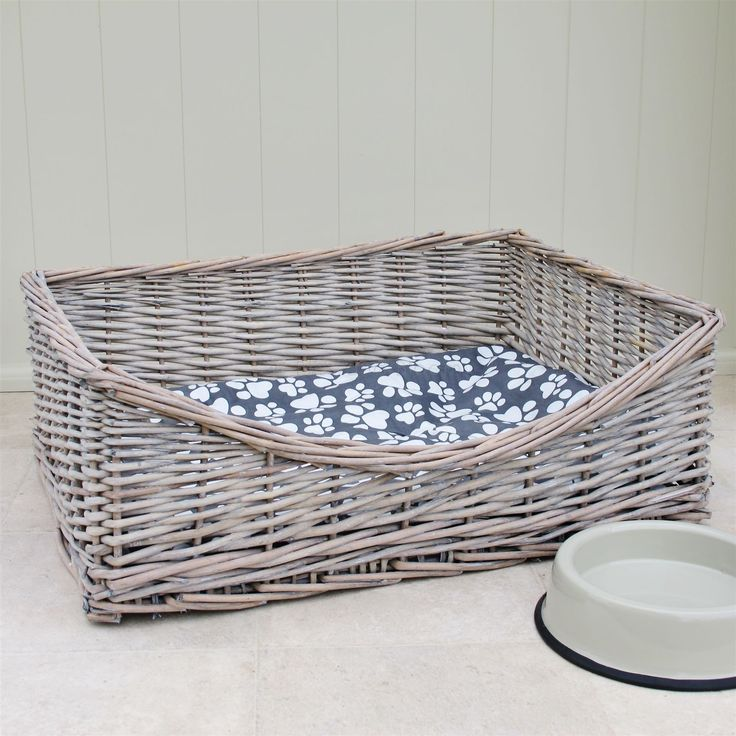 Wicker Dog Bed Basket | Bliss and Bloom Ltd