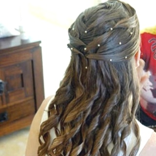This is so pretty!!Hair Ideas, Wedding Hair, First Communion, Prom Hair, Curls, Beautiful Hair, Princesses Hair, Hair Style, Hairstyles For Prom
