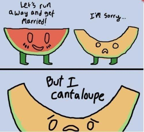 Let's run away and get married! Haha I love corny jokes