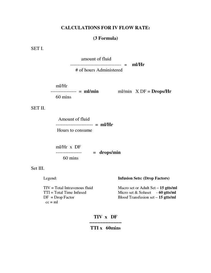 IV flow rates