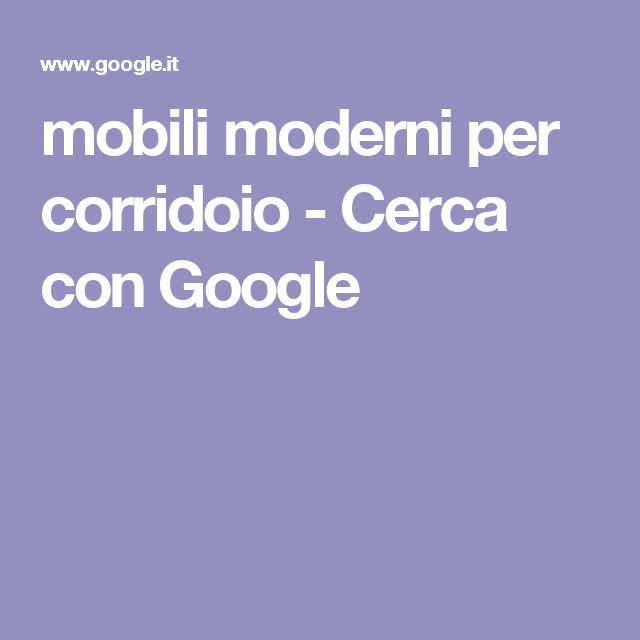 mobili moderni per corridoio - Cerca con Google