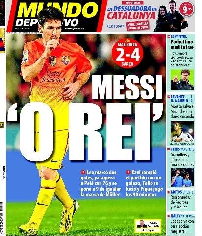 Lio Messi, FC Barcelona. | Mallorca 2-4 FC Barcelona. >Messi dedicando su gol a Thiago Messi Rocuzzo y celebrando sus goles 75 y 76 en una temporada< 11.11.12.