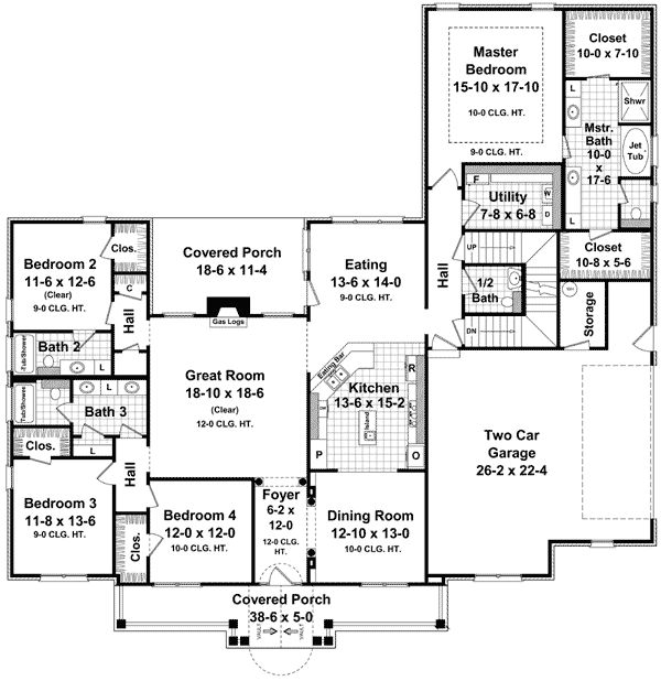 best 10 room house plan. Plan 51076MM  Great Open Floor 15 best House Plans images on Pinterest Country homes Arquitetura