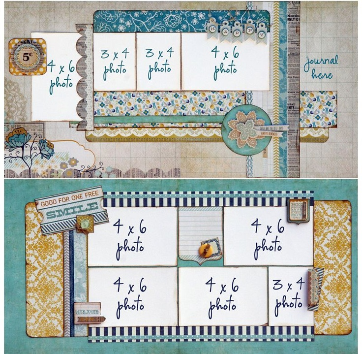 17 Best images about Scrapbook Pages - Double Page Layout ...