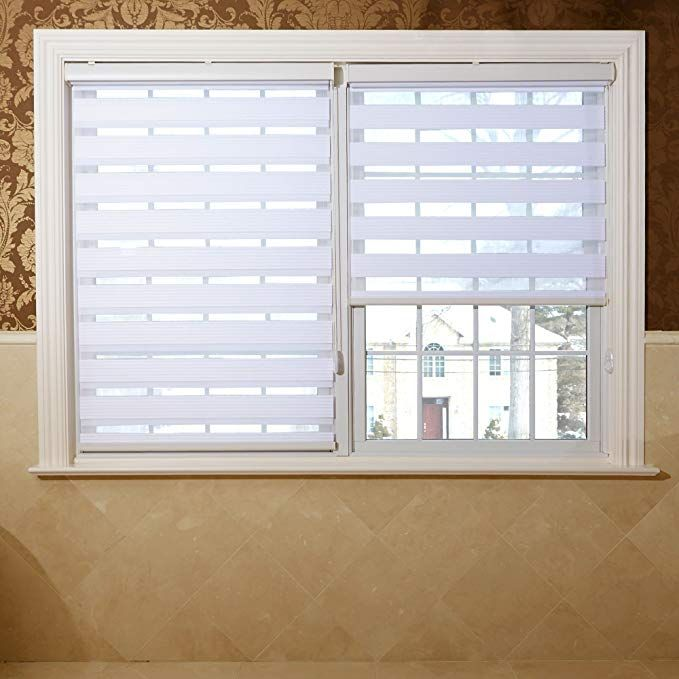 White Premium Seven Star Duo Roller Window Shade 31 Inch Wide Review Roller Blinds Living Room Blinds For Windows Blinds