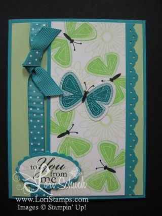butterfly card ---- SU Flight of the Butterfly & Butterfly punch, both retired