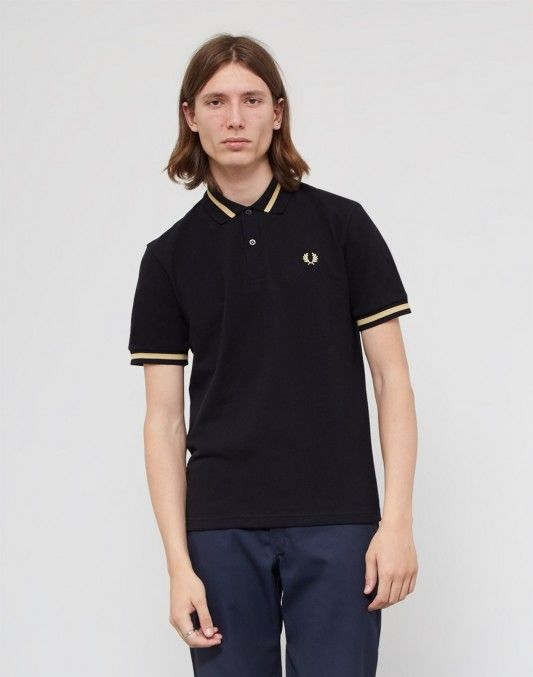 Fred Perry Made In England M2 Single Tipped Polo Shirt Black #StyleMadeEasy