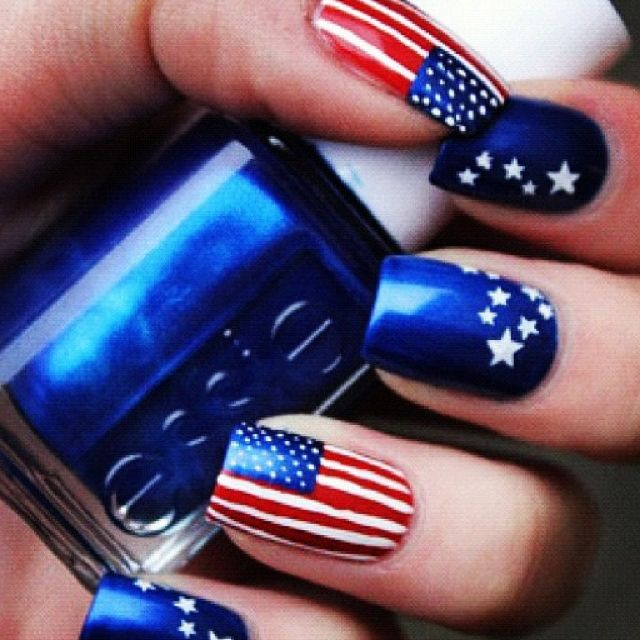 For my HUNNY...30+ American Flag Inspired Stripes and Stars Nail Ideas & Tutorials