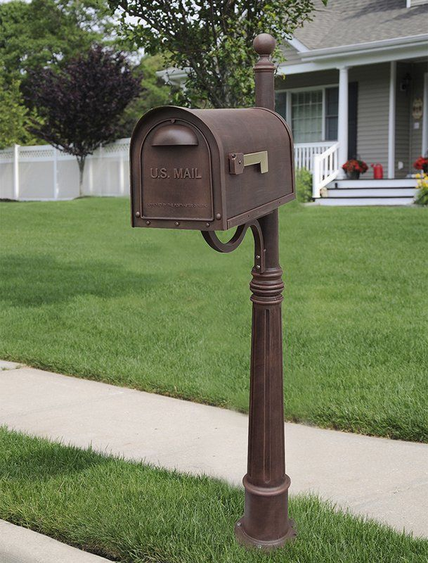 Classic Mailbox With Post Included In 2020 Classic Mailbox Mailbox Post Mailbox